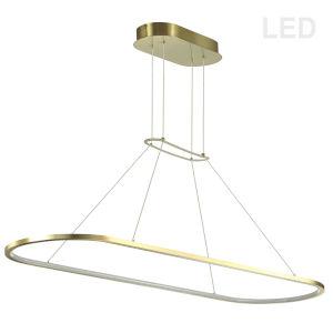 Daytona Aged Brass LED Pendant