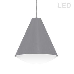 Gray 13-Inch LED Pendant