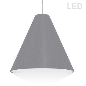 Gray 17-Inch LED Pendant