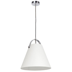 Emperor Polished Chrome One-Light Pendant with Off White Shade