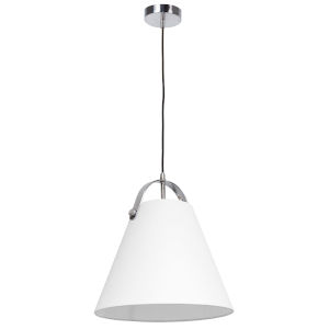 Emperor Polished Chrome One-Light Pendant with White Shade