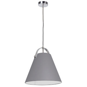 Emperor Polished Chrome One-Light Pendant with Gray Shade