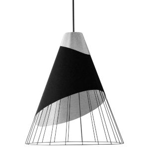 Farthingale Black Silver 24-Inch One-Light Pendant