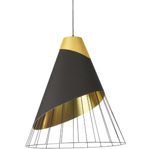 Farthingale Black Gold 24-Inch One-Light Pendant
