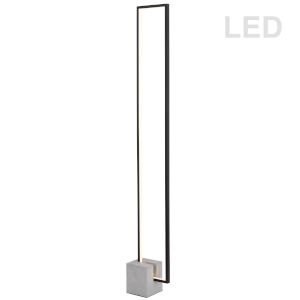 Florence Matte Black with Gray LED Floor Lamp