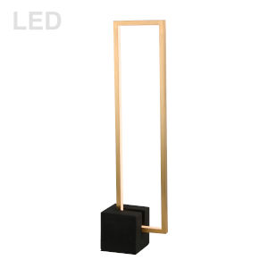 Florence Aged Brass with Black LED Table Lamp