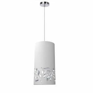 Flora White Silver One-Light Mini Pendant
