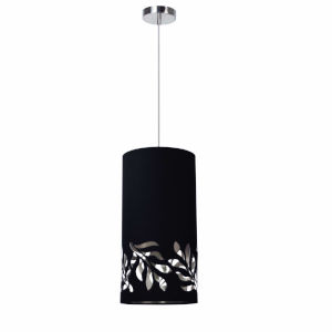 Flora Black Silver One-Light Mini Pendant