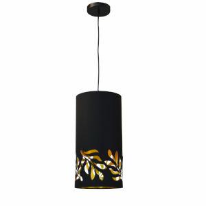 Flora Black Gold One-Light Mini Pendant