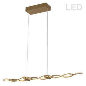 Florence Aged Brass Three-Light LED Pendant