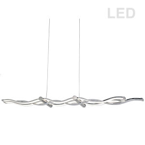 Florence Polished Chrome Three-Light LED Pendant