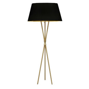 Gabriela Aged Brass with Black Gold One-Light Floor Lamp