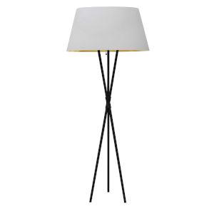 Gabriela Matte Black with White One-Light Floor Lamp