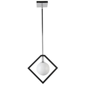 Glasgow Polished Chrome with Black One-Light Pendant