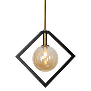 Glasglow Matte Black with Vintage Bronze One-Light Pendant