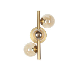 Glasgow Vintage Bronze with White Three-Light Wall Sconce