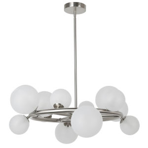 Glasgow Polished Chrome with Clear 12-Light Chandelier