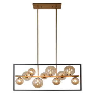 Glasglow Matte Black with Vintage Bronze 10-Light Pendant