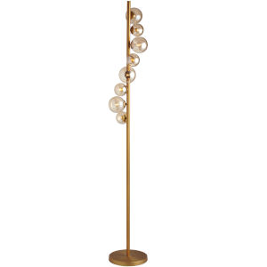Glasgow Vintage Bronze Eight-Light Floor Lamp