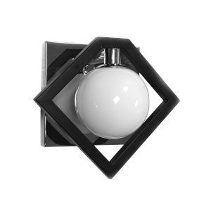 Glasgow Polished Chrome with Black One-Light Wall Sconce