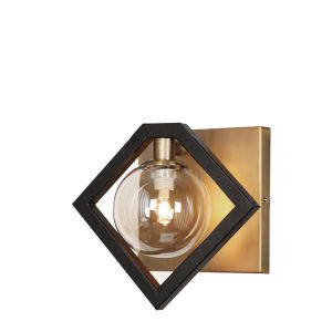 Glasglow Matte Black with Vintage Bronze One-Light Wall Sconce