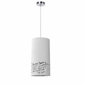 Glora White Silver One-Light Mini Pendant