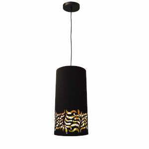 Glora Black Gold One-Light Mini Pendant