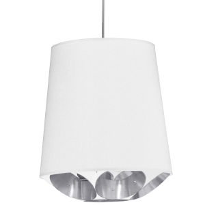 Hadleigh White Silver 20-Inch One-Light Pendant