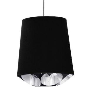Hadleigh Black Silver 20-Inch One-Light Pendant