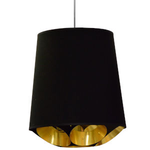 Hadleigh Black Gold 20-Inch One-Light Pendant