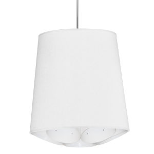 Hadleigh White 20-Inch One-Light Pendant