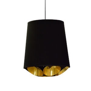 Hadleigh Black Gold 14-Inch One-Light Pendant