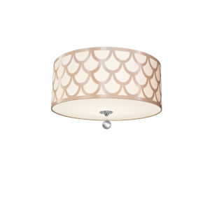 Hannah Winter Gold with Polished Chrome Four-Light Flush Mount