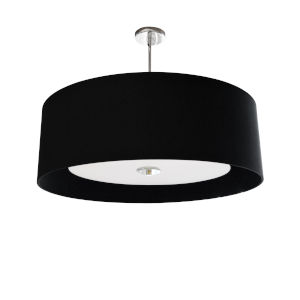 Helena Black with White 22-Inch Four-Light Pendant