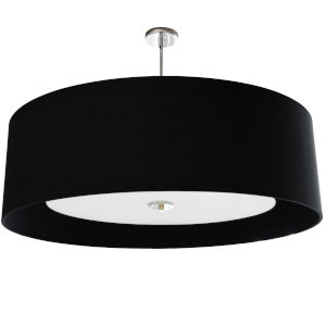 Helena Black with White 30-Inch Four-Light Pendant