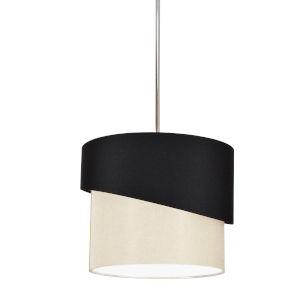 Jazlynn Black Cream One-Light Pendant