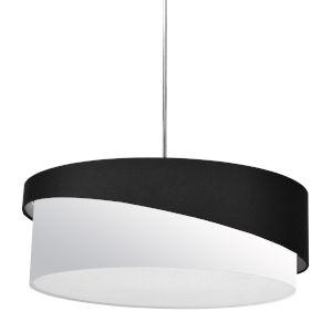 Jazlynn Black White Three-Light Pendant