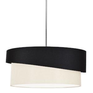 Jazlynn Black Cream Three-Light Pendant