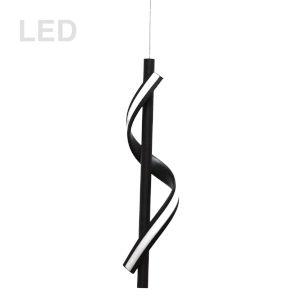 Justine Matte Black LED Mini Pendant