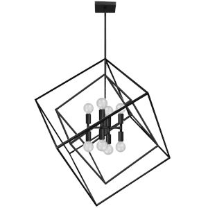 Kappa Matte Black Eight-Light Pendant