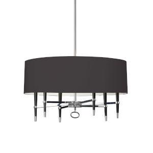 Langford Black 32-Inch Six-Light Chandelier