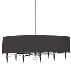 Langford Black 45-Inch Eight-Light Chandelier
