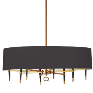 Langford Vintage Bronze with Black 45-Inch Eight-Light Chandelier