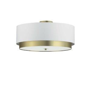 Larkin White with Aged Brass Four-Light Flush Mount