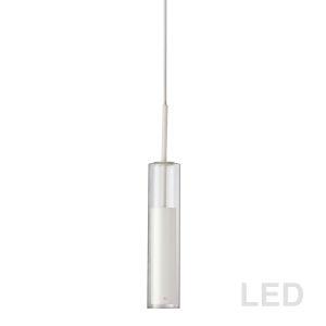 Luna White with Clear LED Mini Pendant