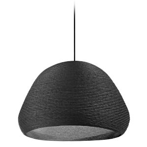 Mashe Black 19-Inch One-Light Pendant