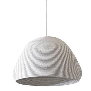 Mashe White 19-Inch One-Light Pendant