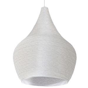 Mashe White 15-Inch One-Light Pendant