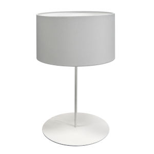 Maine White One-Light Drum Table Lamp