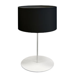 Maine Black One-Light Drum Table Lamp